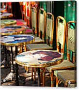 Montmartre Cafe Acrylic Print
