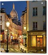 Montmartre Twilight Acrylic Print