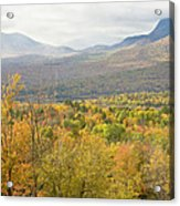 Mountains In Fall Mount Blue State Park Weld Maine Acrylic Print