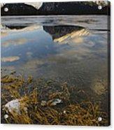 Mt. Rundle And Vermillion Lake Acrylic Print