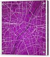 Munich Street Map - Munich Germany Road Map Art On Colored Backg Acrylic Print