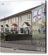 Mural In Shankill, Belfast, Ireland Acrylic Print