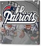 New England Patriots Acrylic Print by Joe Hamilton