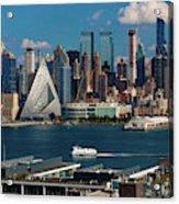 New York City Skyline As Seen Acrylic Print