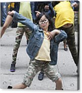 New York Dance Parade 2013 Young Female Dancer Acrylic Print