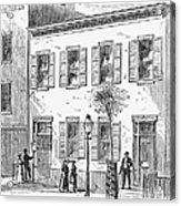 New York: Dispensary, 1868 Acrylic Print