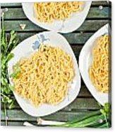 Noodles Acrylic Print by Tom Gowanlock