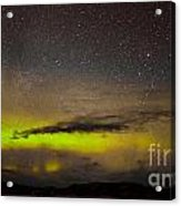 Northern Lights And Myriad Of Stars Acrylic Print