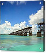 Old Bahia Honda Bridge Florida Keys Acrylic Print