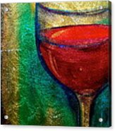 One More Glass Acrylic Print by Debi Starr