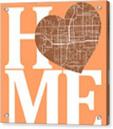 Orlando Street Map Home Heart - Orlando Florida Road Map In A He Acrylic Print
