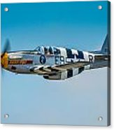 P-51 Mustang Acrylic Print by Puget  Exposure