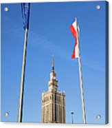 Palace Of Culture And Science In Warsaw Acrylic Print