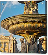 Paris Fountain Acrylic Print