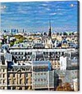 Paris Panorama France Acrylic Print