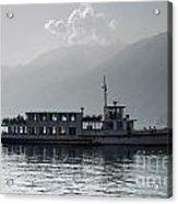 Passenger Ship On An Alpine Lake Acrylic Print