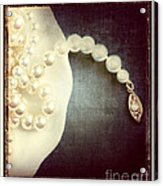 Pearls Acrylic Print by HD Connelly