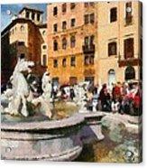 Piazza Navona In Rome Acrylic Print
