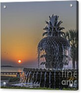 Waterfront Park Glowing Acrylic Print
