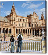 Plaza De Espana Pavilion In Seville Acrylic Print