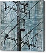Pole With Transformer Acrylic Print by William Cauthern