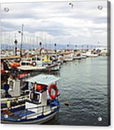 Port Of Aegina Acrylic Print