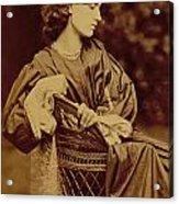 Portrait Of Jane Morris Acrylic Print