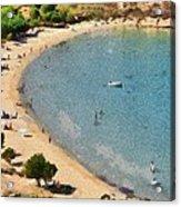 Psili Ammos Beach In Serifos Island Acrylic Print