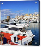 Puerto Banus Marina In Spain Acrylic Print