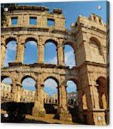 Pula, Istria County, Croatia. The Roman Acrylic Print