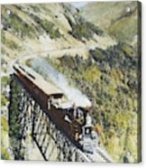 Railroad Bridge, C1870 Acrylic Print