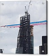 Red Arrows Flypast Over The City Of London Acrylic Print