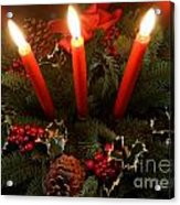 3 Red Candles Acrylic Print