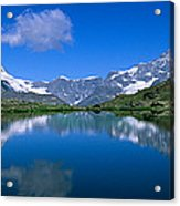Reflection Of Mountains In Water Acrylic Print