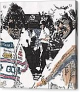 Rick Mears And Roger Penske At Indianapolis Acrylic Print