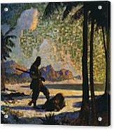 Robinson Crusoe, 1920 Acrylic Print