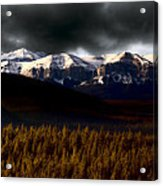 Rocky Mountains In Winter Acrylic Print
