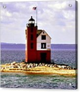 Round Island Lighthouse Straits Of Mackinac Michigan Acrylic Print