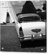 Route 66 Wigwam Motel And Classic Car Acrylic Print