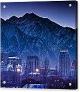 Salt Lake City Utah Skyline Acrylic Print