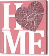 San Antonio Street Map Home Heart - San Antonio Texas Road Map I Acrylic Print