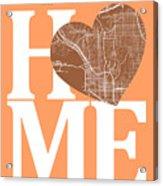 San Diego Street Map Home Heart - San Diego California Road Map  Acrylic Print