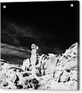 Sandstone Rock Formations At Valley Of Fire State Park Nevada Usa Acrylic Print