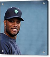 Seattle Mariners V Los Angeles Angels Acrylic Print