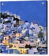 Serifos Town During Dusk Time Acrylic Print