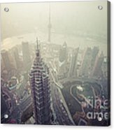 Shanghai Pudong Skyline Acrylic Print by Fototrav Print
