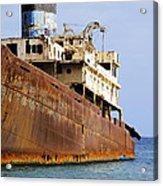 Shipwreck On Lanzarote Acrylic Print