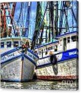 Shrimp Boats Season Acrylic Print