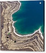 Sinkholes In Northern Dead Sea Area Acrylic Print