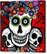 3 Skulls Acrylic Print